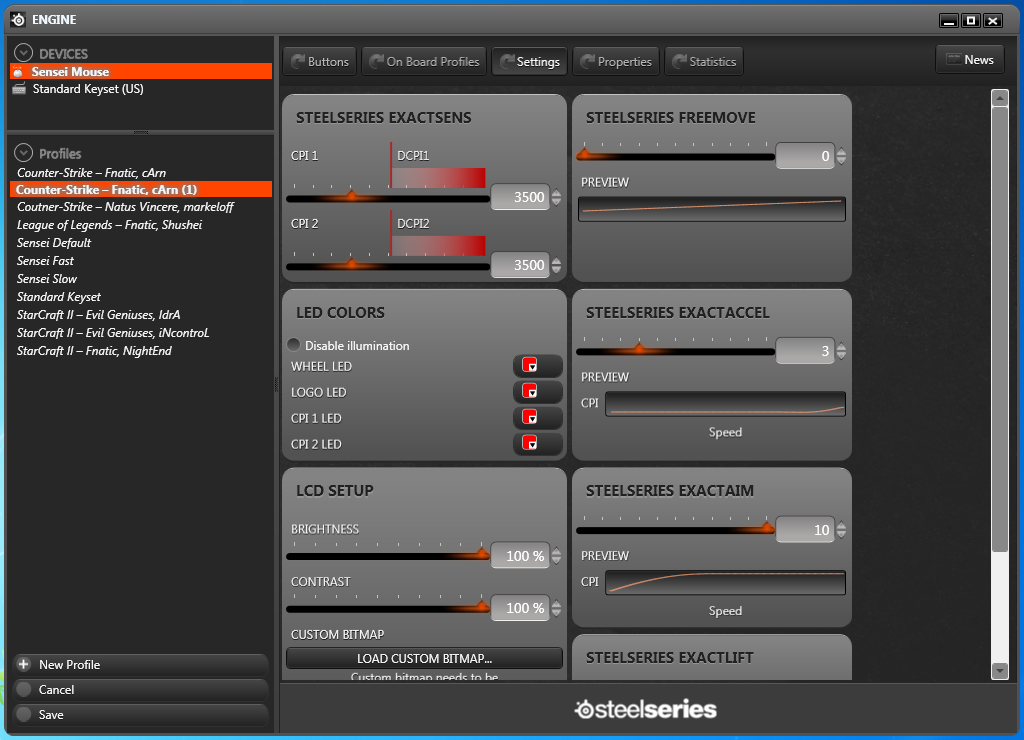 SteelSeries Engine Settings