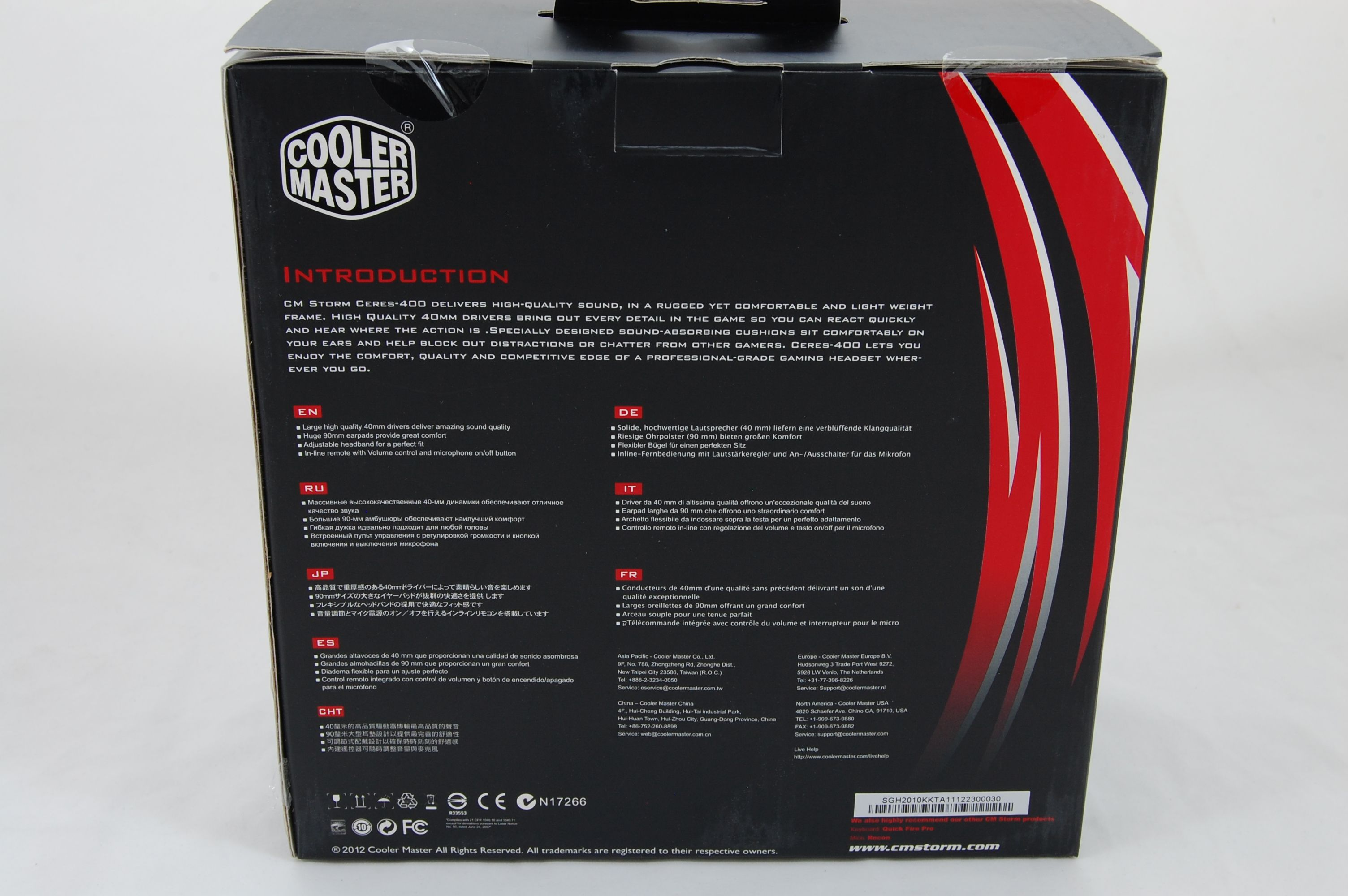 Cooler Master CM Storm Ceres 400 Packaging Back