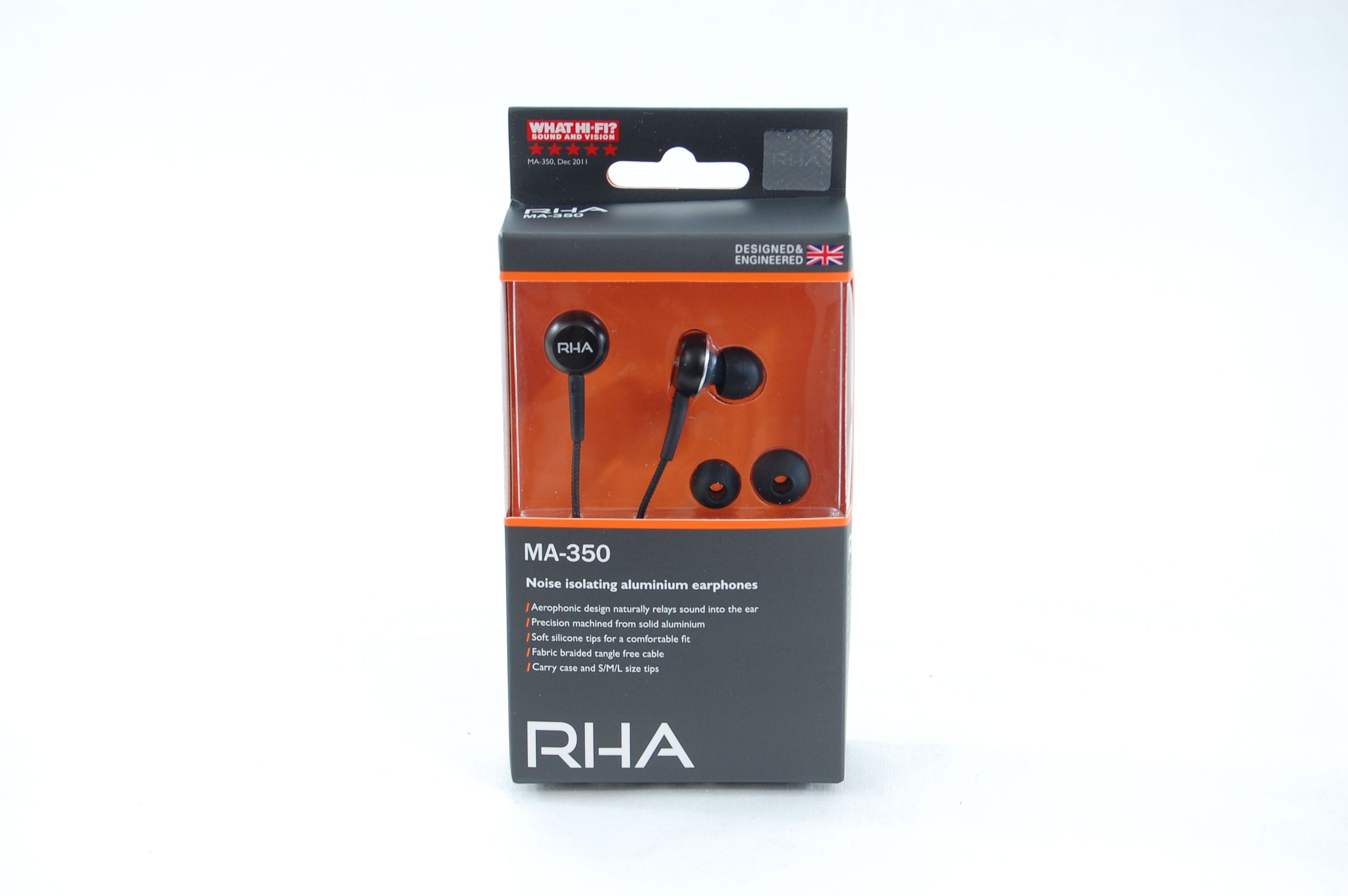 RHA MA 350 Noise Isolating Aluminum Earphones Review - Package 1