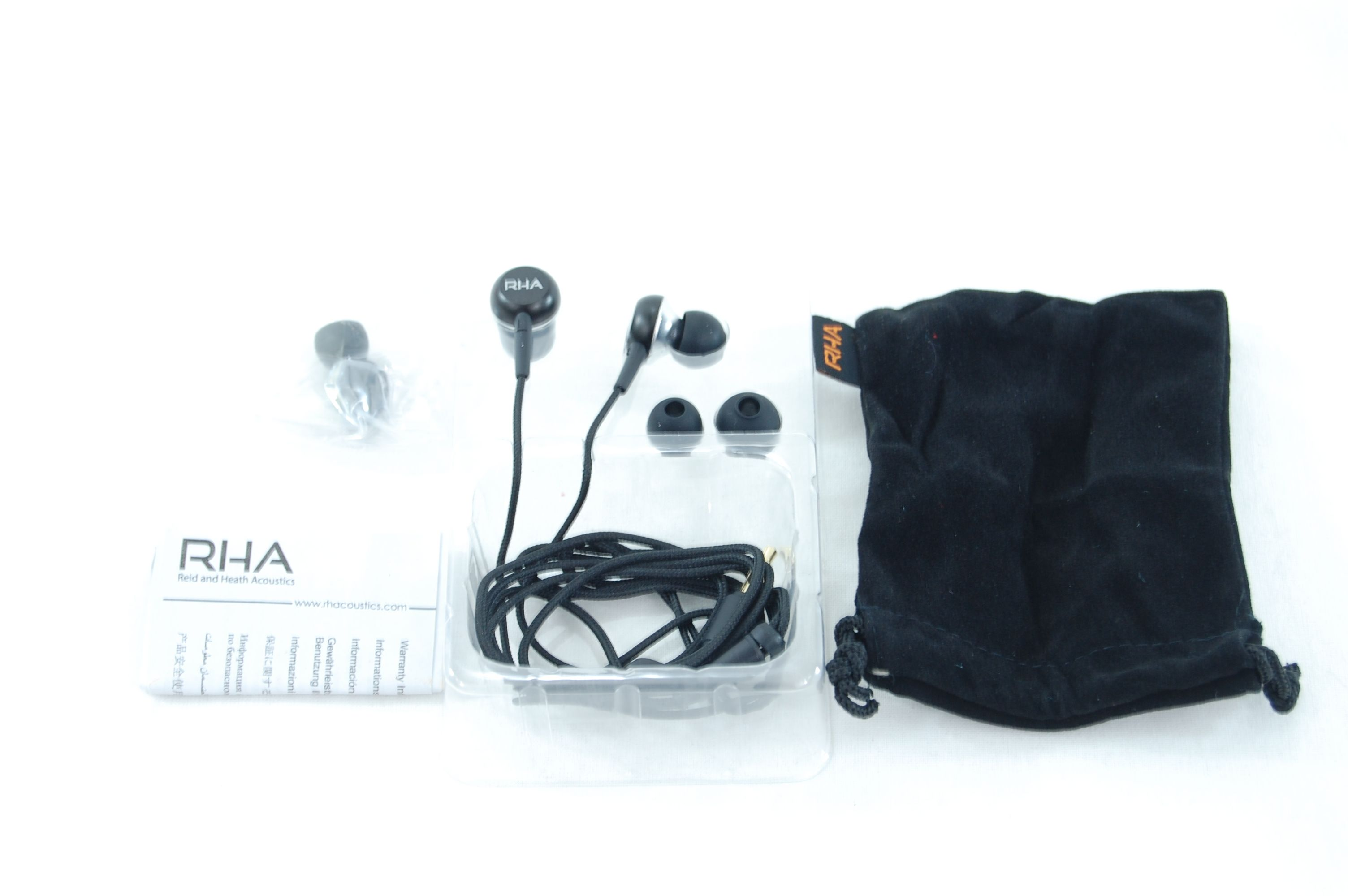 RHA MA 350 Noise Isolating Aluminum Earphones Review - Box Contents - Unboxed