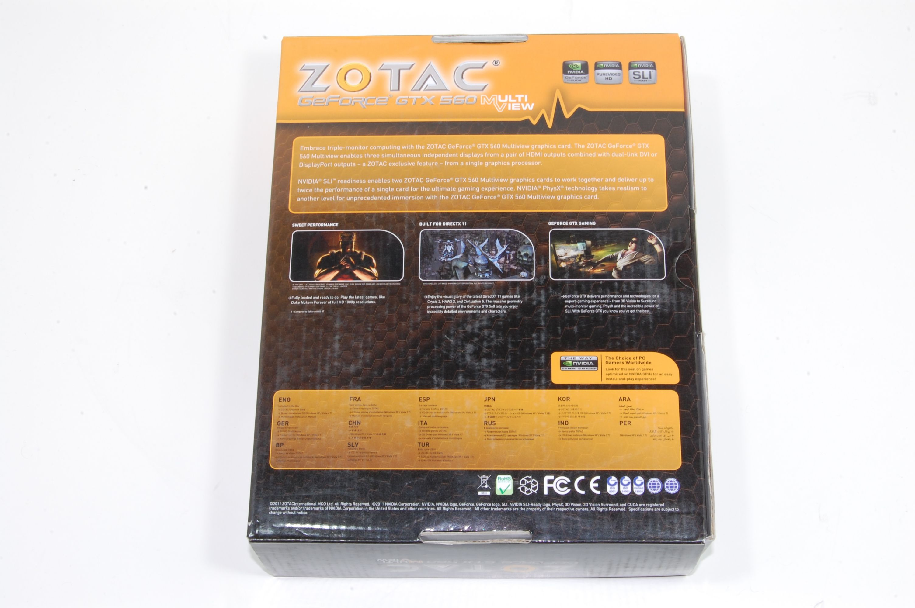 Zotac GTX 560 Multiview Packaging Back
