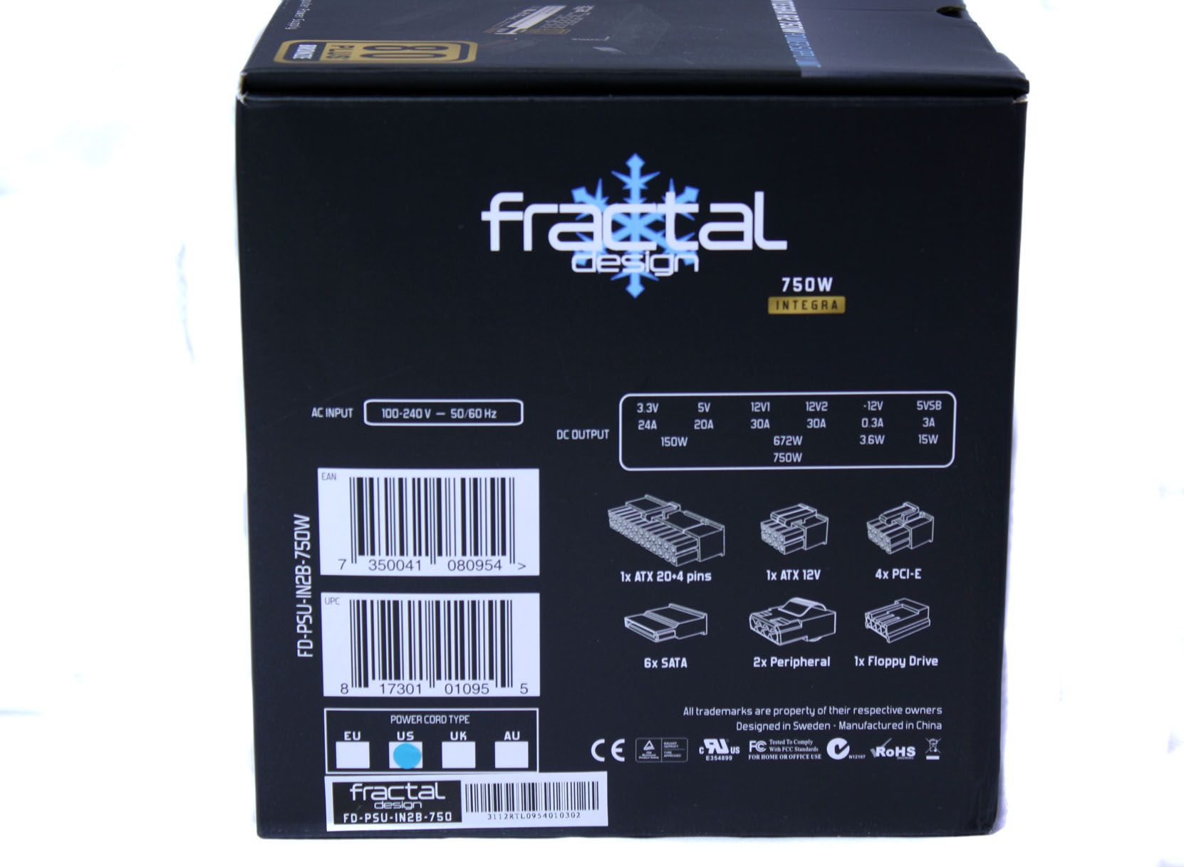 Fractal Design Integra R2 750W Box Side 1