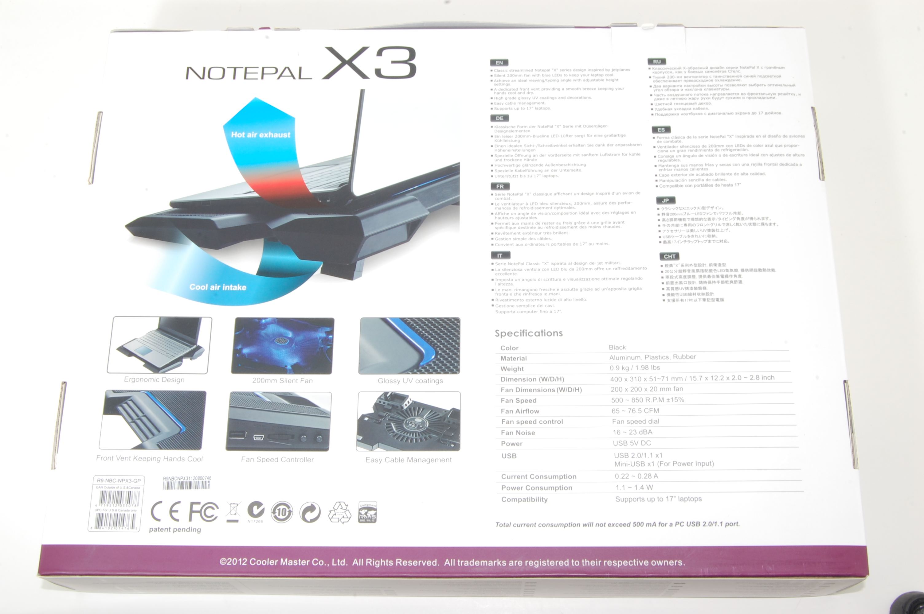 NotePal X3 Box Back